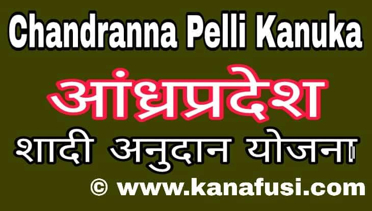 Chandranna Pelli Kanuka Scheme me Apply kaise kare