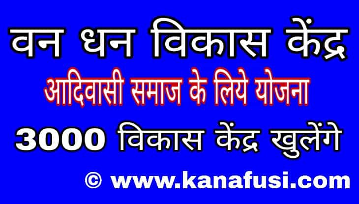 Van Dhan Vikas Kendra A Scheme for Tribal People of India