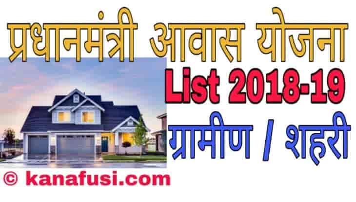 Pradhanmantri Shehri / Gramin Awas Yojana List 2019 Me Apna Naam Kaise Dekhe in Hindi
