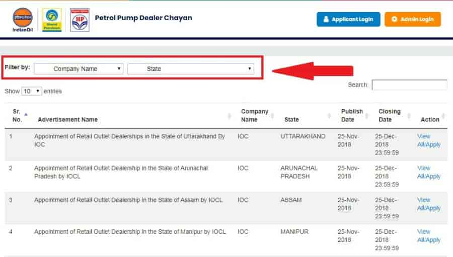 Search Your Name in Pump Dealer Result List