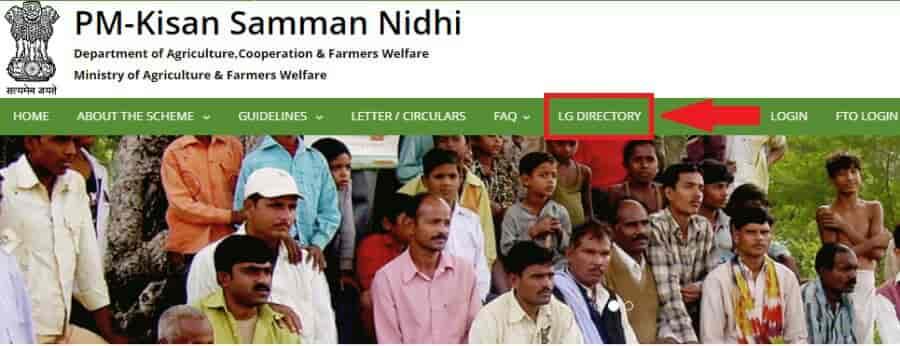 Kisan Samman Nidhi Yojana Select LG Directory
