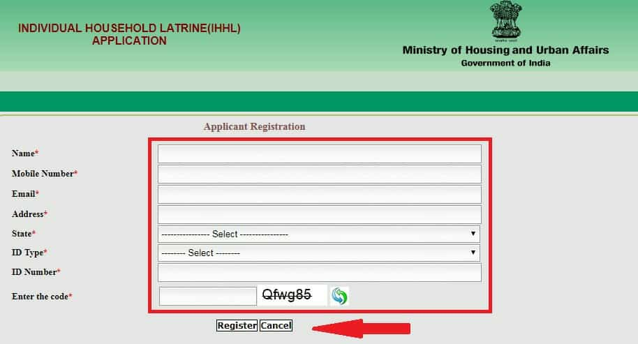 Fill Your Swachh Bharat Urban Form Online