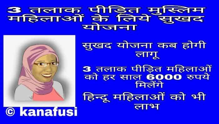 {रू0} Triple Talaq Victim Sukhad Yojana Kya Hai – 3 तलाक पीडि़तों को 6000 रूपये