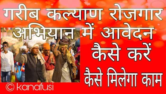 PM Garib Kalyan Rojgar Yojana Me Avedan Kaise Kare Process in Hindi